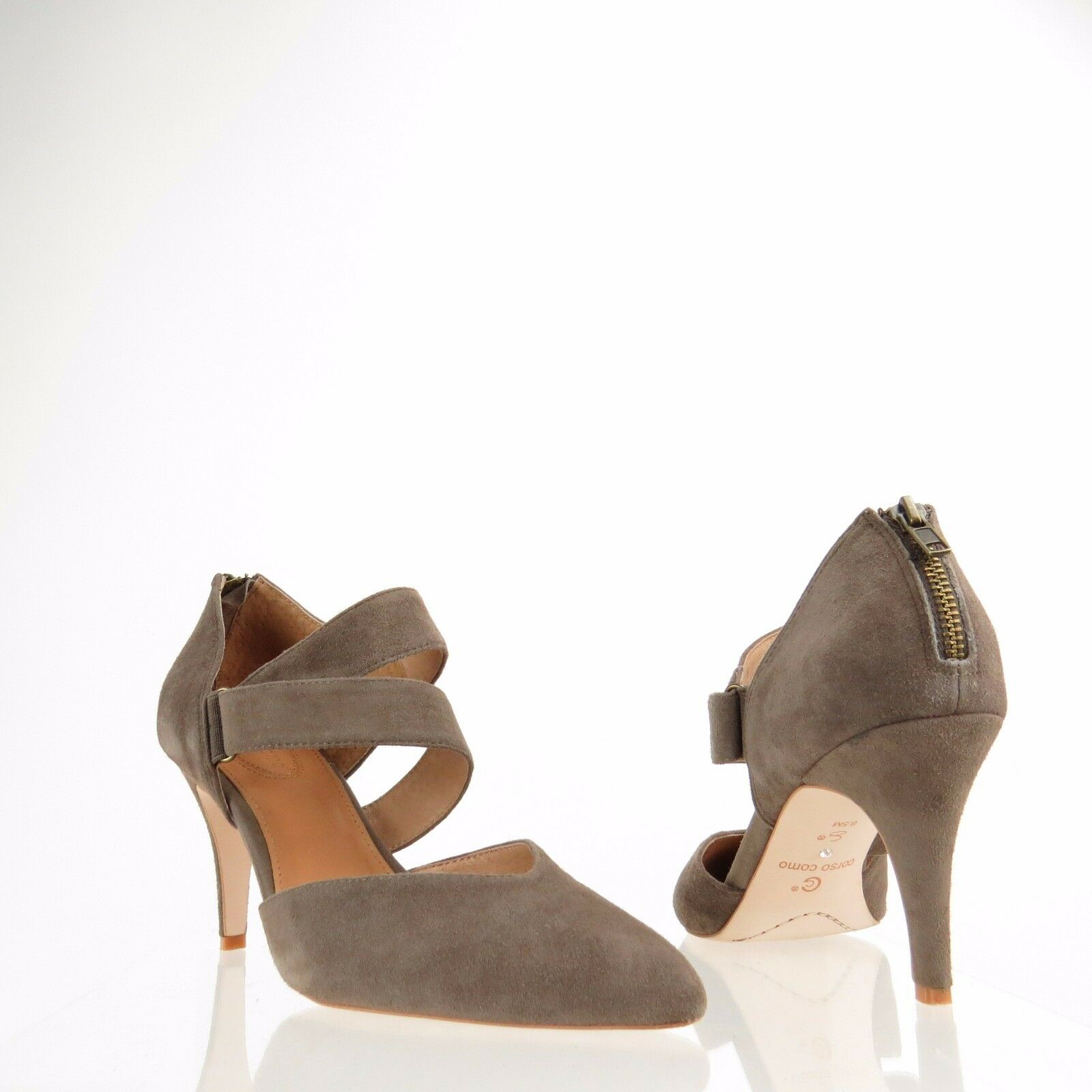 Women's Corso Como Carroll shoes Taupe Suede Strappy Heels Size 8.5 M