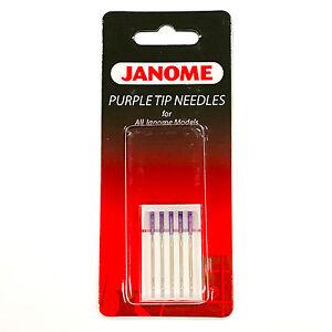 janome sewing machine needle sizes