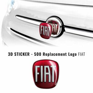 Adesivo Fiat 3D Ricambio Logo Anteriore + Posteriore per 500