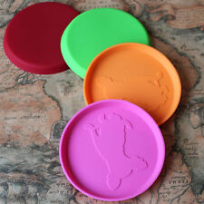 1PC Dog Frisbee Flying Disc Tooth Resistant Outdoor Large Dog Training Fetch 0T