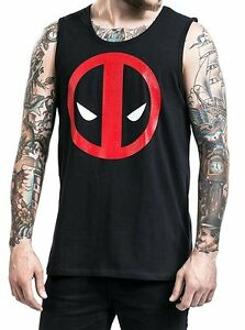 Canottiera-Deadpool-stylized-face-tank-top-Uomo-ufficiale-Marvel