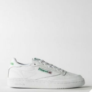 46effd88760d71 Reebok Classic Club C 85 Running Shoes Sneakers White Green AR0456 ...