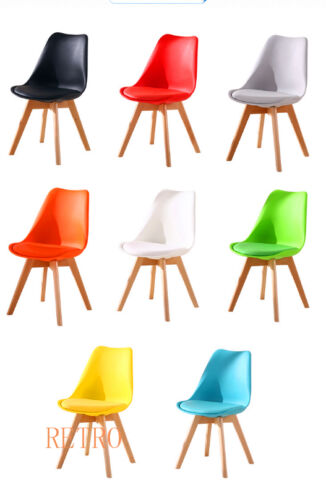 Retro tulip style Chair Dining Designer Eiffel 000 red,white,black,blue,yellow,green,Grey,just leg