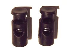NEW 23mm X 10mm BLACK 6mm HOLE ROUND CORD ADJUSTERS STOPPER LOCK SPRING TOGGLES