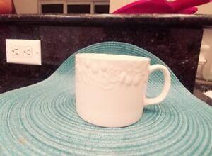 Gibson-Flourish-12oz-Coffee-Soup-Tea-Mug-Cup-White-Embossed-Fruit