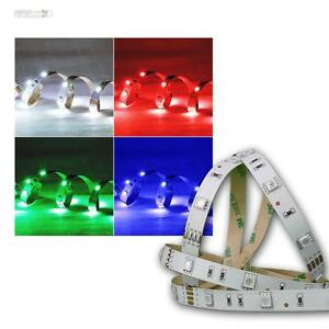 smd led flex stripe streifen 12v rgb leds 5m lichtband selbstklebend leiste rgbs ebay. Black Bedroom Furniture Sets. Home Design Ideas