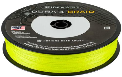0,14mm 11,8kg SpiderWire Dura 4 Yellow 300m geflochtene Angelschnur Gelb