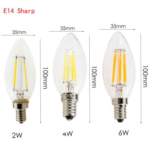 E12 E27 E14 Dimmable G45 A60 LED Bulb Light Edison Retro Vintage Filament Lamps