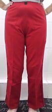 NEW TLC Sport Red Fold Down Wide Sport Pants - S