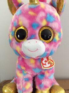 7995431aac8 TY Beanie Boos - FANTASIA the Unicorn (Glitter Eyes) (LARGE Size ...