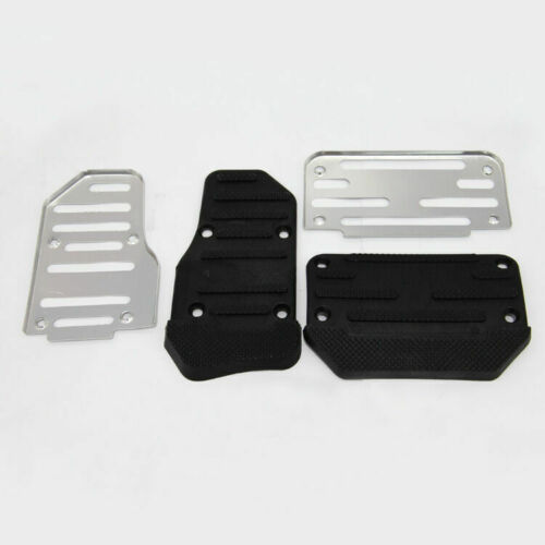 2pcs Aluminum Non-Slip Automatic Car Brake Accelerator Pedal Pad Cover Universal