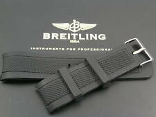 SUPERB SILICONE RUBBER STRAP FOR BREITLING SUPEROCEAN NAVITIMER WATCH 24MM