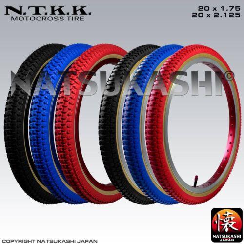 "Panaracer NTKK /""SNAKEBELLY/"" TYRE 20/"" fat//thin Red Black Blue Old School BMX"