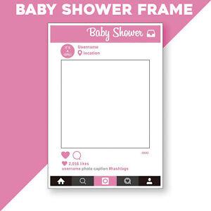 Rose-Baby-Shower-Cadre-Accessoire-photo-booth-selfie-Amusant-Rectangle-Parti-Favor-Decor