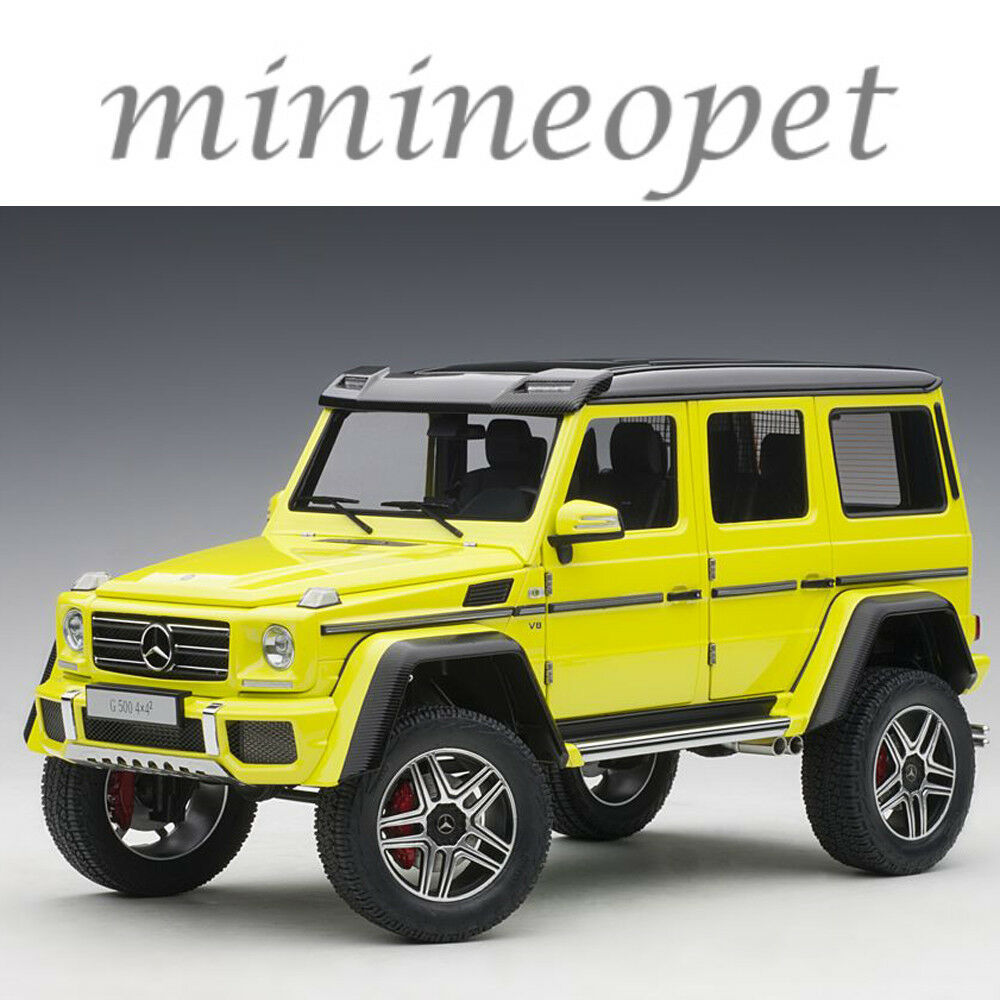 AUTOART 76319 Mercedes Benz G 500 4 X 4 2 1 18 Voiture Modèle Electric Beam Jaune