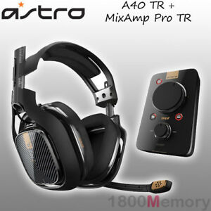 Details about Astro A40 TR Wired Gaming Headset + MixAmp Pro TR for Sony  PS4 Pro PS3 PC Mac
