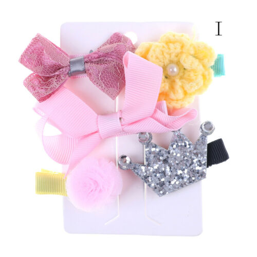 1 set Hairpin Baby Girl Hair Clip Bow Flower Mini Barrettes Star Kids Infant JL