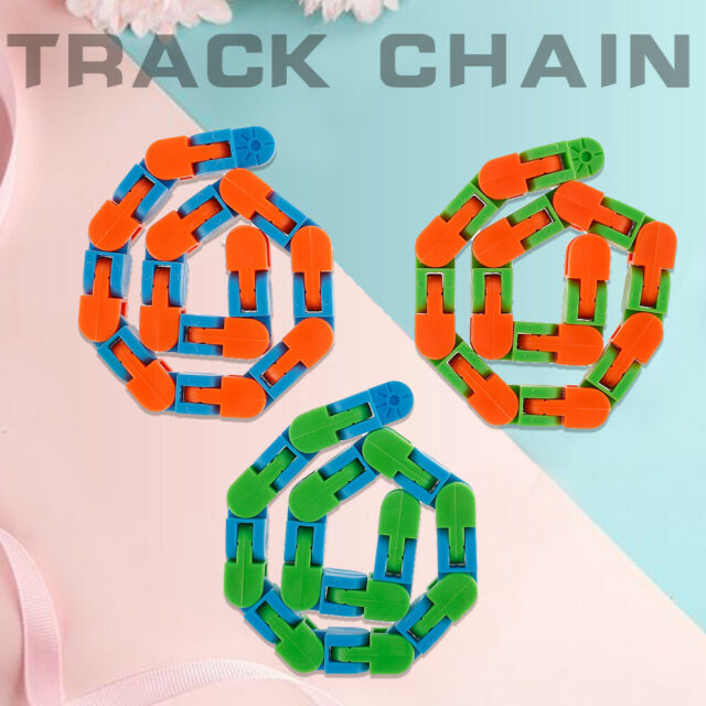 3pcs Wacky Tracks Fidget Stress Snap Relief Funny Toy for Kid Sensory Autism ☟