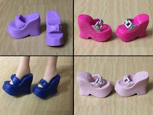 Barbie Doll Fashionistas Fashion Fever Buckle Wedge Slide Sandals Shoes CHOOSE