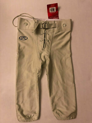 Rawlings F2545 Youth Game Football Pants with snaps Shiny