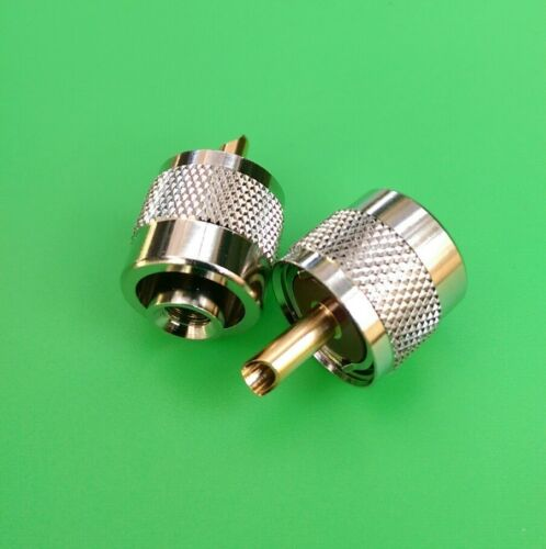 10 PCS UHF Male Twist-On Connector for RG58 Cable USA Seller