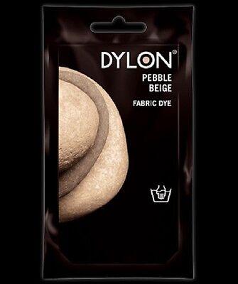 Dylon PEBBLE BEIGE HAND DYE 50g Fabric Cotton Linen Clothes Material Trendy