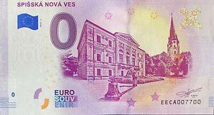 BILLET-0-EURO-SPISSKA-NOVA-VES-SLOVAQUIE-2019-NUMERO-7700