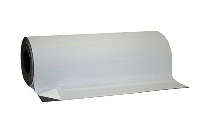"24"" x 10' Roll flexible Magnetic sheet for sign ADHESIVE. 30 Mil thick!"