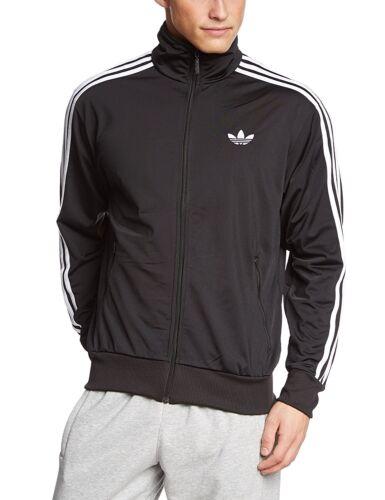 Black Men/'s New Adidas Originals Firebird Zip Track Top Tracksuit Retro Jacket