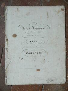 Lucia-Di-Lamermoor-Donizetti-Spartito-Deux-Violino-Lagoanere-Bernard-Latte