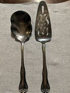 1907 Antique Silverplate Pie Server Monarch Plate Two National Silver Co