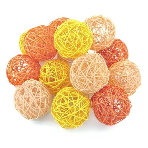 RATTAN Sfere Arancione//Giallo//aprico assortimento sfere in rattan ***