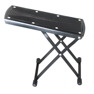 Folding Guitar Rest Footstool 6 Height Setting Gears