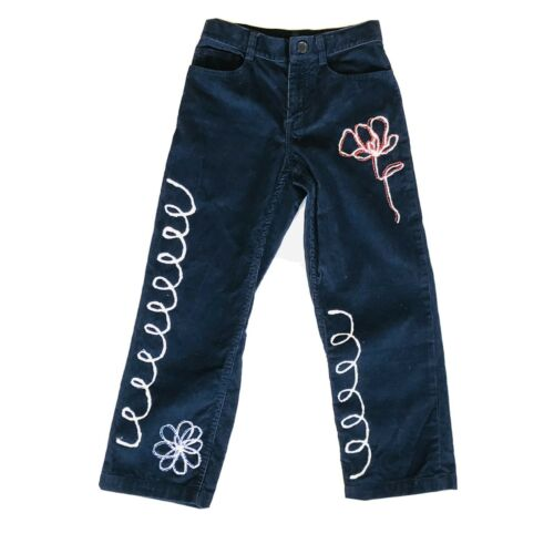 Handmade Painted Embroidered Corduroy Pants