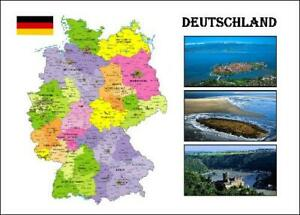 Germany Country Map New Postcard