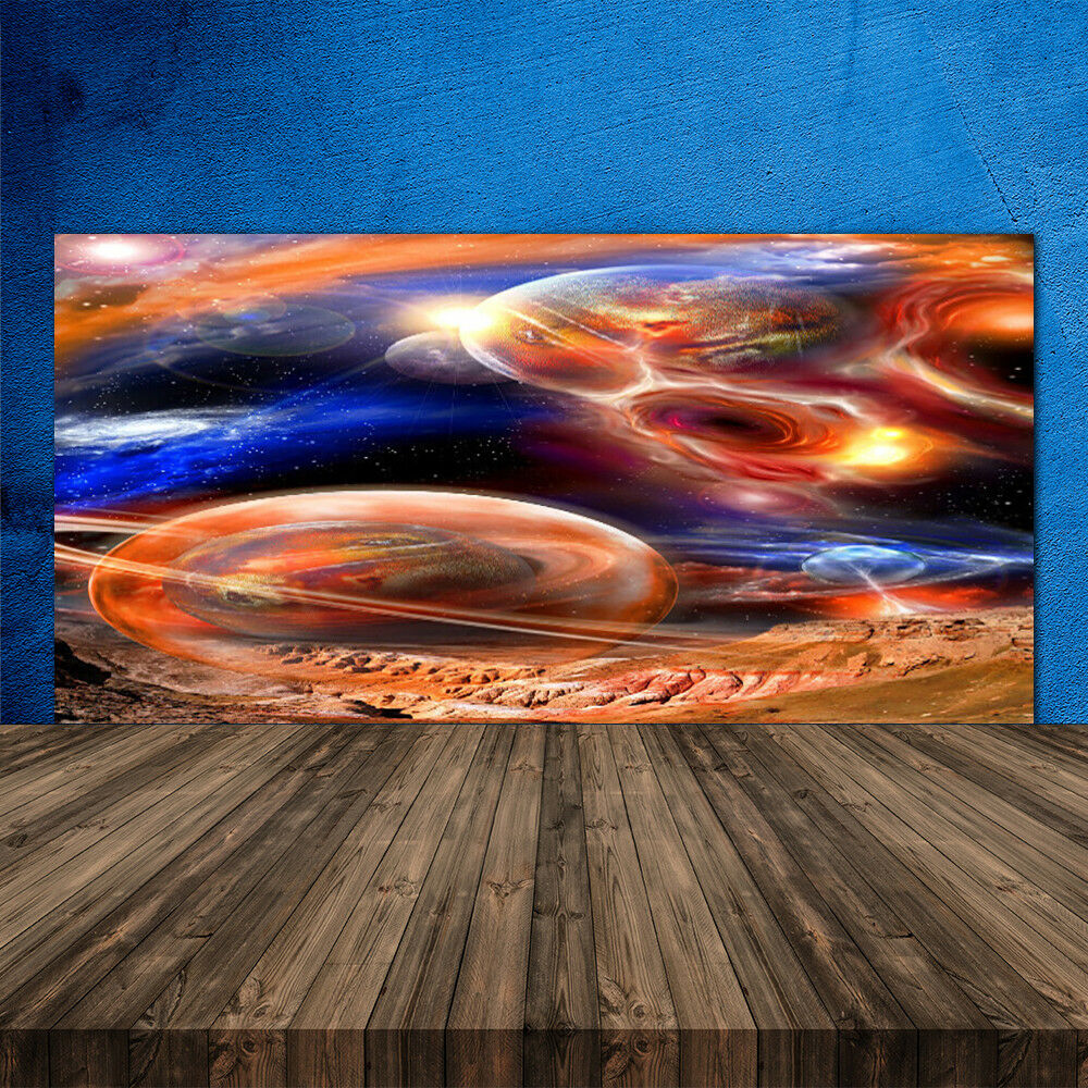 Crédence de cuisine en verre Panneau 120x60 Univers Abstrait