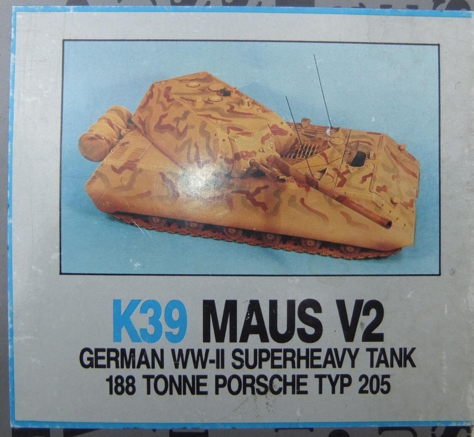 ACCURATE ARMOR K39 - MAUS V2 German Tank SUPER HEAVY SERIES - 1 35 RESIN KIT  | Verkaufspreis