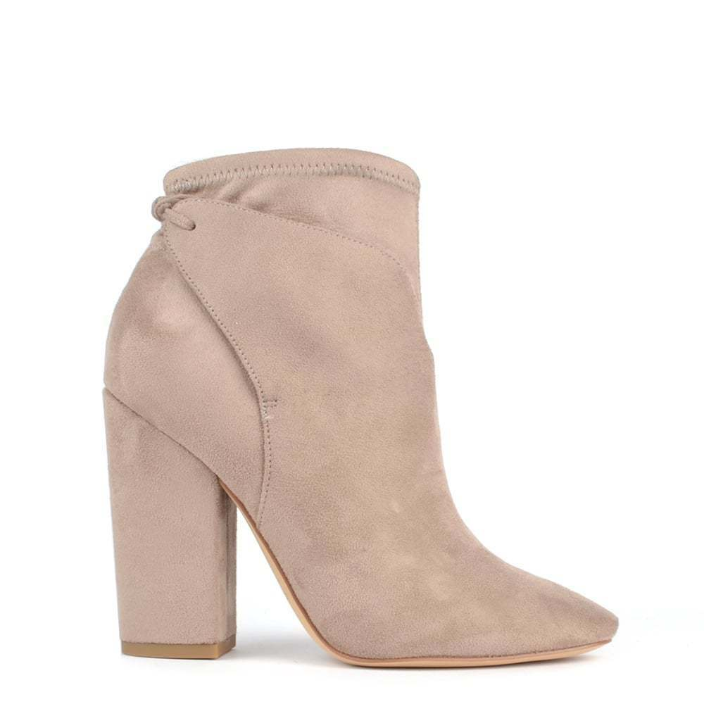 Kendall & Kylie Zola Beige Suede Ankle Boot