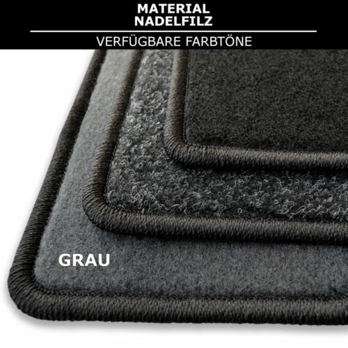 - Grau Nadelfilz 4tlg Fußmatten Passend für Audi Q7 seit 2005 av