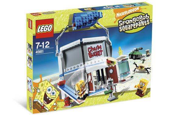 Nuevo Lego Spongebob Squarepants 4891 el Cubo de Chum con robots plancton &