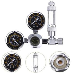 Aquarium-Doppel-Gauge-CO2-System-Druckminderer-Magnetventil-mit-Bubble-Counter
