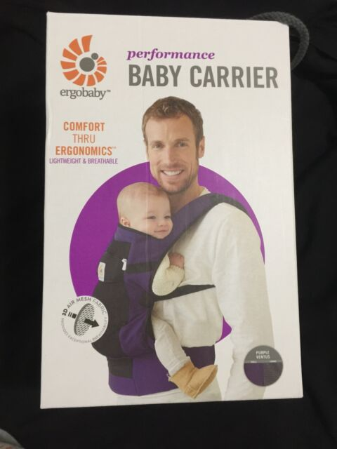 a95aafc4e91 BRAND NEW in BOX ~ Ergobaby Performance Carrier - Purple Ventus Authentic!