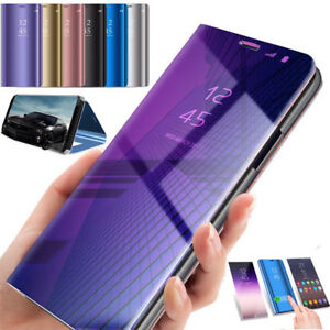promo code 9435b 91973 Details about For Samsung Galaxy A6 A6 Plus 2018 Flip Smart Case Clear View  Mirror Stand Cover