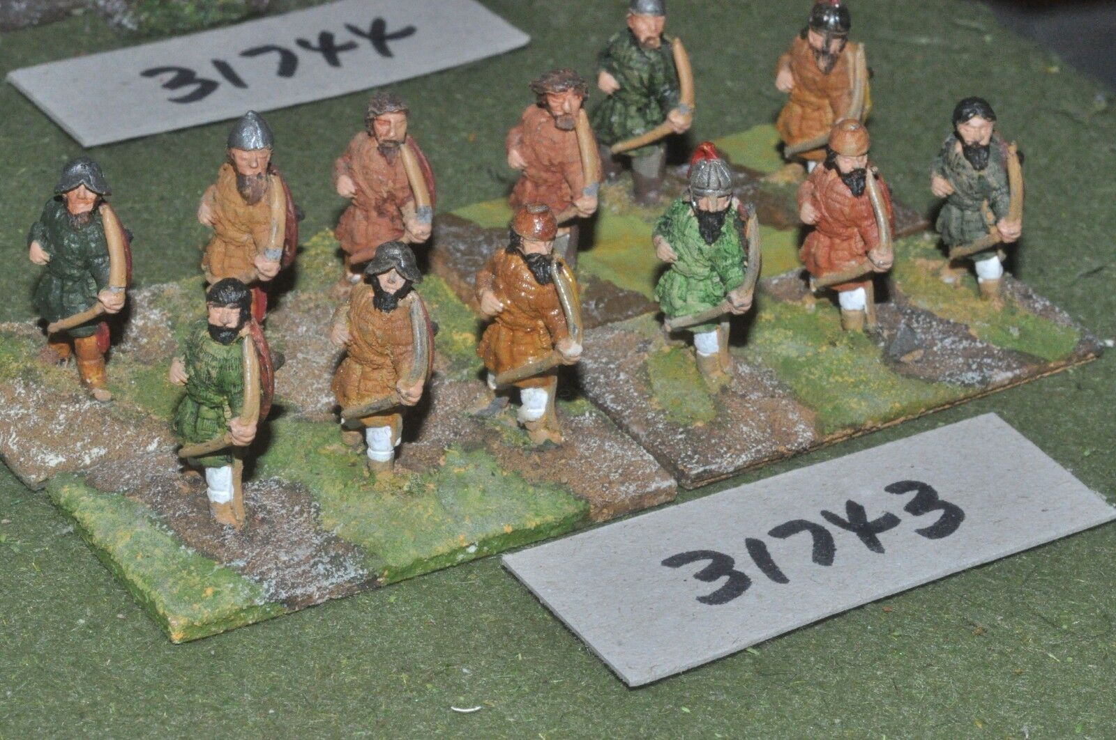 25mm dark ages   viking - archers 12 figures - inf (31743)