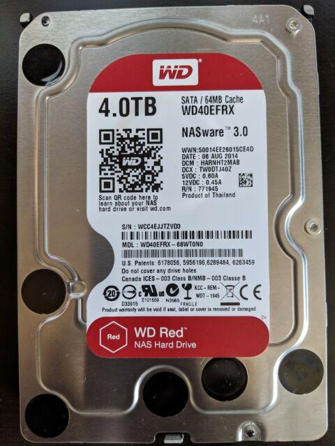 Western Digital Red 4TB,Internal,5400 RPM,3.5 inch ...