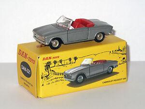 DAN-TOYS-Peugeot-204-Cabriolet-Gris-Portes-et-capot-ouvrants-DAN-221
