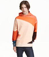 Alex Katz X H&m 'orange Hat' 1990 Men's Printed Hooded Sweatshirt Hoodie M