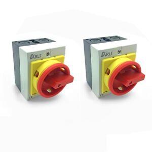 Hauptschalter-16A-4-polig-2-x-Kunststoff-Gehaeuse-IP65-Trennschalter-4P16A-G-ARLI