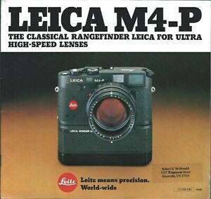 Camera-Brochure-Leica-M4-P-c1980-CB375