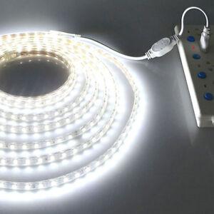 1M-20M-Super-Lumineux-SMD-5050-AC-220V-LED-Bande-DIY-Lumiere-Ruban-avec-EU-Plug
